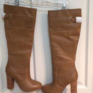 Kelsi dagger caramel leather boots 7.5 new!